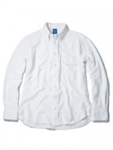 ロングスリーブピケボタンダウンシャツ