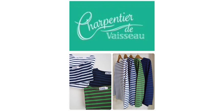 Charpentier de Vaisseau ボーダーバスクシャツ WHITE×NAVY
