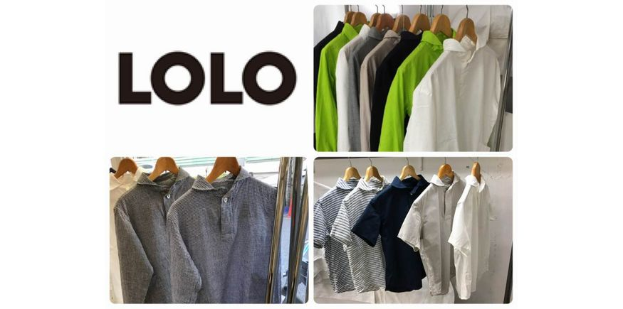LOLO 定番コットンプルオーバーシャツ KIMIDORI